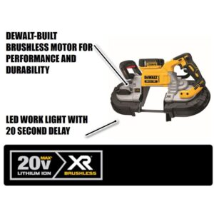 DEWALT 20-Volt MAX Cordless Brushless 5 in. Dual Switch Bandsaw (Tool-Only)