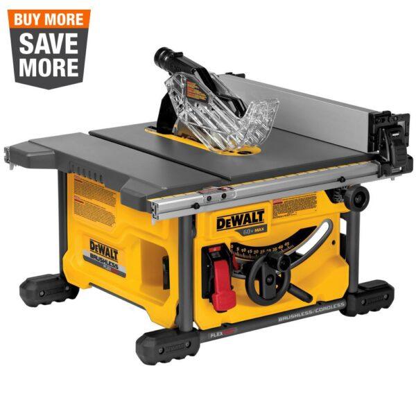 DEWALT FLEXVOLT 60-Volt MAX  Cordless Brushless 8-1/4 in. Table Saw Kit (Tool-Only)