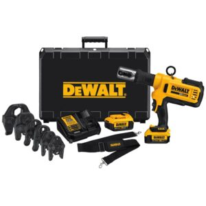 DEWALT 20-Volt MAX Cordless Press Tool, (6) Press Jaws Sized 1/2 in. to 2 in., (2) 20-Volt 4.0Ah Batteries & Charger