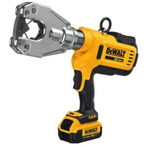 DEWALT 20-Volt MAX Cordless Dieless Cable Crimping Tool with (2) 20-Volt 4.0Ah Batteries, Charger & Case