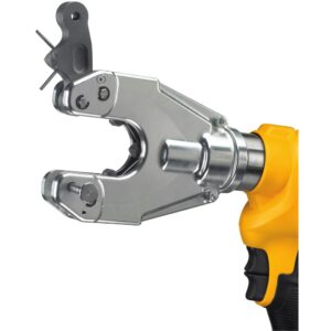 DEWALT 20-Volt MAX Cordless Dieless Cable Crimping Tool with (2) 20-Volt 4.0Ah Batteries, Charger, Case & Cable Cutting Tool