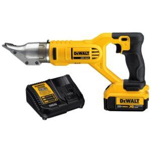 DEWALT 20-Volt MAX Cordless 18-Gauge Swivel Head Shears with (2) 20-Volt Batteries 4.0Ah & Charger