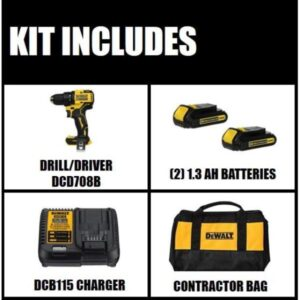 DEWALT ATOMIC 20-Volt MAX Cordless Brushless Compact 1/2 in. Drill/Driver with ATOMIC 20-V Brushless Impact Driver (Tool-Only)