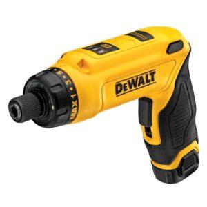 DEWALT 8-Volt MAX Cordless Gyroscopic Screwdriver with Adjustable Handle, (1) 1.0Ah Battery, Charger & Bag