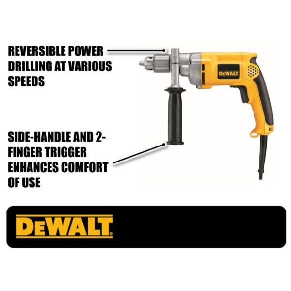 DEWALT 7.8 Amp Corded 1/2 in. Variable Speed Reversing Drill