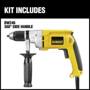 DEWALT 7.8 Amp 1/2 in. 0-600 RPM Variable Speed Reversing Drill with Keyless Chuck