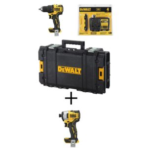 DEWALT ATOMIC 20-Volt MAX Cordless Brushless 1/2 in. Drill/Driver Kit, (1) 4.0Ah Battery, 1/4 in. Impact Driver & Tough System