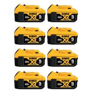 DEWALT 20-Volt MAX XR Premium Lithium-Ion 5.0Ah Battery Pack (8-Pack)