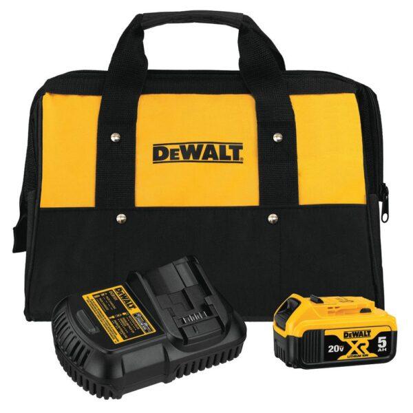 DEWALT 20-Volt MAX XR Cordless Brushless Drywall Screw Gun with (1) 20-Volt 5.0Ah Battery & 5 in. Random Orbital Sander