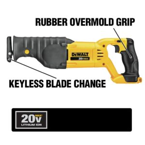DEWALT 20-Volt MAX Cordless Drill/Impact Combo Kit (2-Tool) with (2) 20-Volt 1.3Ah Batteries, Charger & Reciprocating Saw