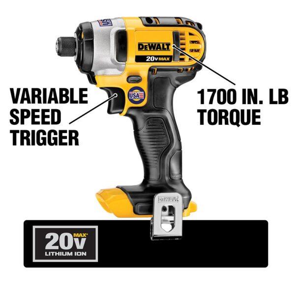 DEWALT 20-Volt MAX Cordless Combo Kit (4-Tool) with (2) 20-Volt 2.0Ah Batteries & 6-1/2 in. Circular Saw