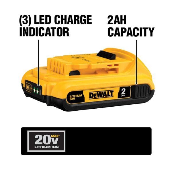 DEWALT ATOMIC 20-Volt MAX Cordless Brushless Combo Kit (4-Tool), 4-1/2 in. Circular Saw, (2) 2.0 Ah Batteries, Charger & Bag