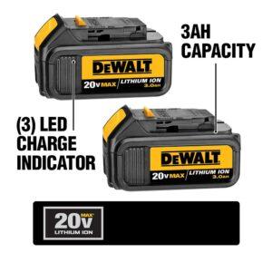DEWALT 20-Volt MAX Cordless Combo Kit (5-Tool) with (2) 20-Volt 3.0Ah Batteries & Charger