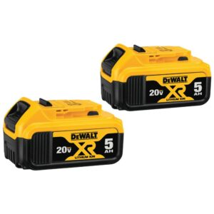 DEWALT 20-Volt MAX XR Cordless Combo Kit (5-Tool) with (4) 20-Volt 5.0Ah Batteries & Charger