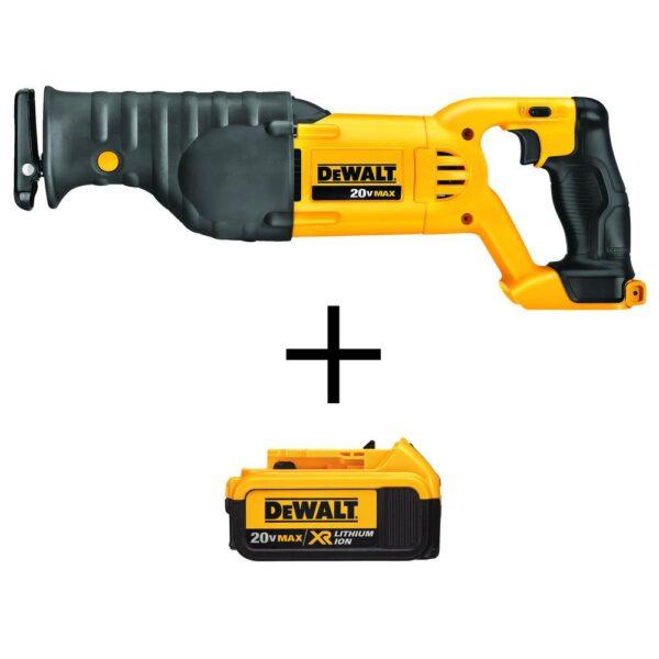 DEWALT 20-Volt MAX Cordless Reciprocating Saw with (1) 20-Volt Battery 4.0Ah