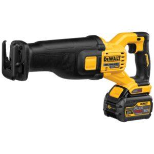 DEWALT FLEXVOLT 60-Volt MAX Cordless Brushless Reciprocating Saw with (2) FLEXVOLT 6.0Ah Batteries & Hammer Drill/Driver