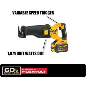 DEWALT FLEXVOLT 60-Volt MAX Cordless Brushless Reciprocating Saw with (2) FLEXVOLT 9.0Ah Batteries & 6-1/2 in. Circular Saw