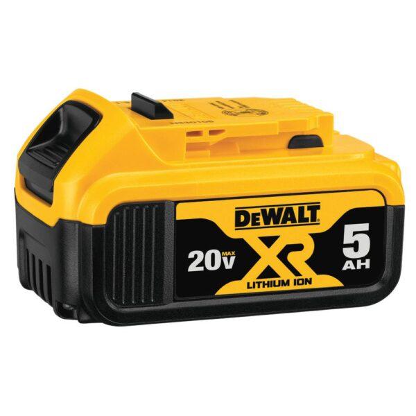 DEWALT 20-Volt MAX XR Cordless Brushless 1/4 Sheet Sander with 5 in. Random Orbital Sander & (1) 20-Volt Battery 5.0Ah