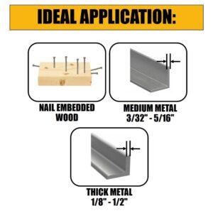 DEWALT 12 in. 6 Teeth per in. Taper Back Bi-Metal Reciprocating Saw Blade (5-Pack)