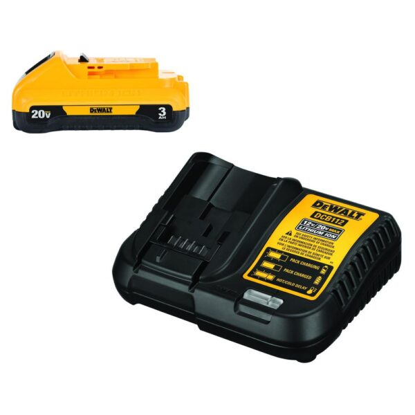 DEWALT 20-Volt MAX XR Cordless Brushless Compact Reciprocating Saw with (1) 20-Volt Battery 3.0Ah & Charger