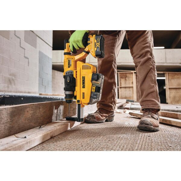 DEWALT 20-Volt MAX Cordless Brushless 1-1/8 in. SDS Plus D-Handle Rotary Hammer w/ Dust Extractor & (2) 20-Volt 6.0Ah Batteries