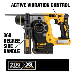 DEWALT 20-Volt MAX XR Cordless Brushless 1 in. SDS Plus L-Shape Rotary Hammer with (1) 20-Volt 3.0Ah Battery & Charger