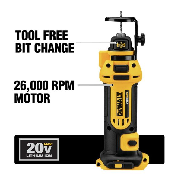 DEWALT 20-Volt MAX Cordless Drywall Cut-Out Tool with (2) 20-Volt Batteries 2.0Ah & Charger
