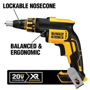 DEWALT 20-Volt MAX XR Cordless Brushless Drywall Screw Gun with (2) 20-Volt 4.0Ah Batteries & Charger