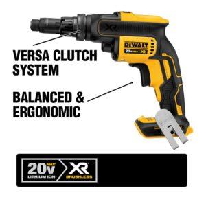 DEWALT 20-Volt MAX XR Cordless Brushless Drywall Screw Gun with Versa-Clutch Adjustable Torque with (1) 20-Volt 4.0Ah Battery