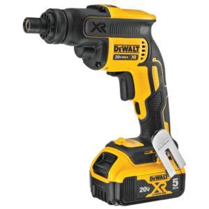 DEWALT 20-Volt MAX XR Cordless Brushless Drywall Screwgun Threaded Clutch Housing with (2) 20-Volt 5.0Ah Batteries & Charger