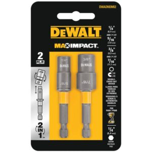 DEWALT MAX IMPACT Double Ended Carbon Steel Nut Driver (2-Pack)