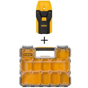 DEWALT 3/4 in. Stud Finder with Bonus 10-Compartment Shallow Pro Small Parts Organizer