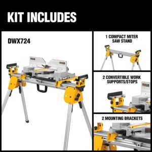 DEWALT 29.8 lbs. Compact Miter Saw Stand with 500 lbs. Capacity