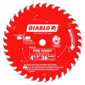 DIABLO 4-1/2 in. 36-Tooth Fine Finish Saw Blade