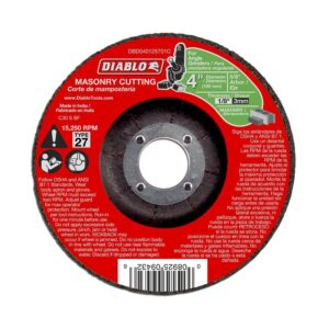 DIABLO 4 in. x 1/8 in. x 5/8 in. Masonry Cutting Disc with Depressed Center