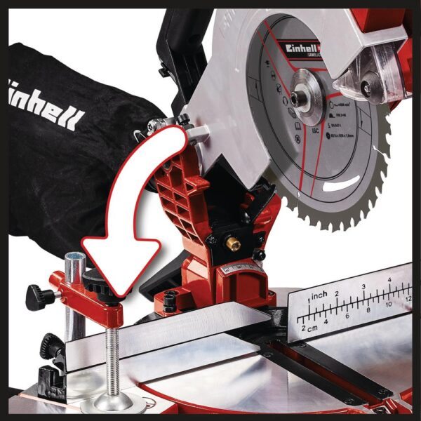 Einhell PXC 18-Volt Cordless 8.5 in. 3,000-RPM Compound Single-Bevel Miter Saw Kit (w/ 3.0-Ah Battery and Fast Charger)