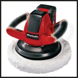 Einhell PXC 18-Volt Cordless 10 in. 2,500-RPM Large Random Orbit Rotary Buffer / Polisher Kit (w/ 3.0-Ah Battery + Fast Charger)