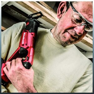 Einhell PXC 18-Volt Cordless 2600-SPM Reciprocating Saw, 1 in. Stroke Length, w/ 6 in. Wood Saw Blade (Tool Only)