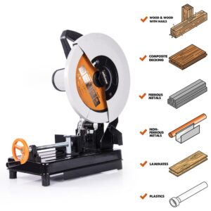 Evolution Power Tools 14 in. Multi-Purpose Chop Saw