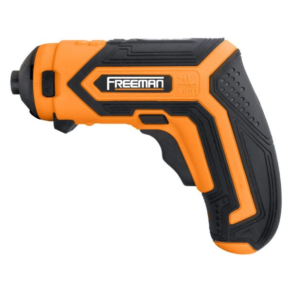 Freeman 3.6-Volt Lithium-Ion Cordless 1/4 in. Rechargeable Electric Mini Screwdriver Kit w/Charger, Attachments, Hex Bits & Case