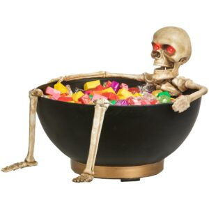 Gemmy Animated Candy Bowl-Sound/Sensor-Laughing Skeleton with Moving Jaw-LG