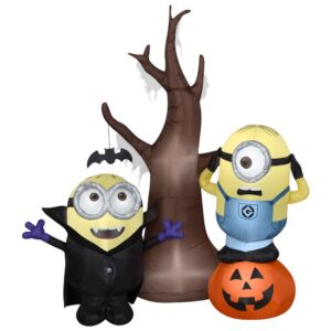 Gemmy 5 ft. Airblown-Minions with Tree and Pumpkin Scene-Universal