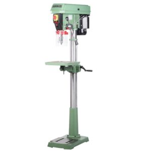 General International 17 in. 3/4 HP Electronic Variable Speed Drill Press with Flip-Up Guard and Integrated Laser Pointer