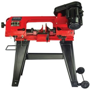 General International 5 Amp 4.5 in. Stationary Metal Cutting Band Saw with Stand