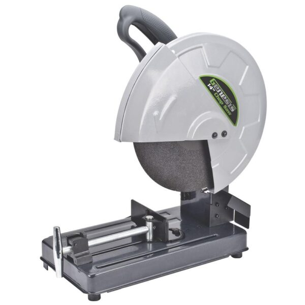 Genesis 14 in. 15 Amp High Torque Abrasive Chop Saw with Wheel, Adjustable Fence, Spindle Lock and Quick Release Vise