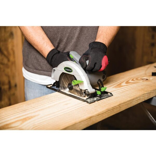 Genesis 13 Amp 7-1/4 in. Circular Saw with Metal Lower Guard, Spindle Lock, 24T Blade, Rip Guide and Blade Wrench