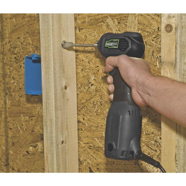 Genesis 3.5 Amp 3/8 in. Variable Speed Close-Quarter Right Angle Drill with Non-Slip Grip