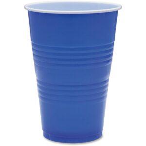 Genuine Joe 16 oz. Blue Plastic Party Cups (50 Per Case)