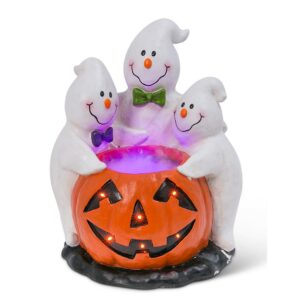 Gerson 22.24 in. H Magnesium Electric Smoking Jack-O-Lantern with Ghostly Trio