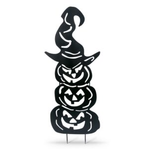 Gerson 52.3 in. H Metal Silhouette Stacking Pumpkins Yard Decoration